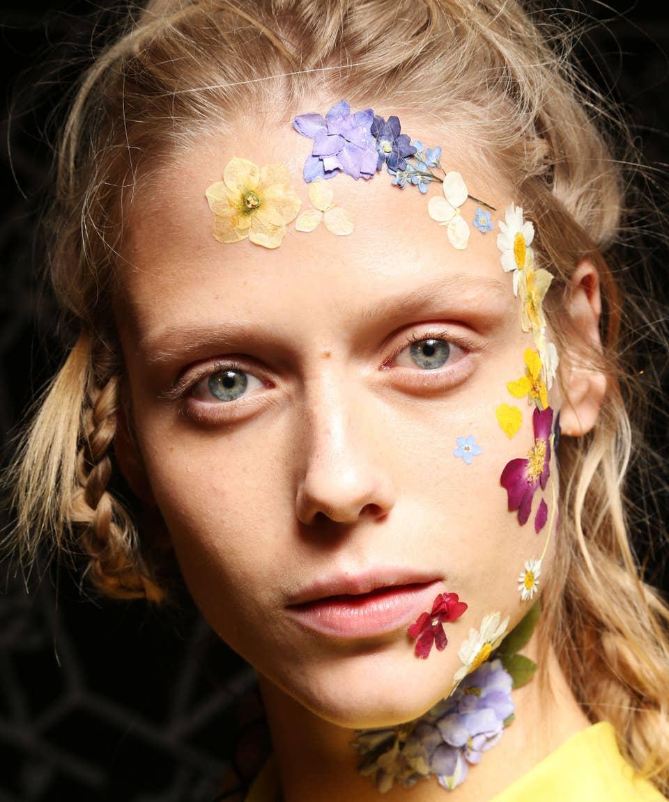 Flower Makeup Trend Pretty Face Paint