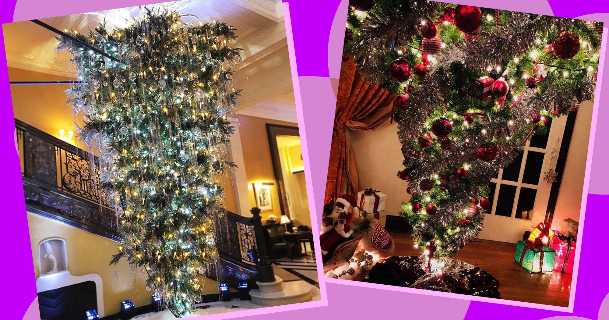 Upside down weihnachtsbaum mit twist for Weihnachtsbaum fa r fensterbank