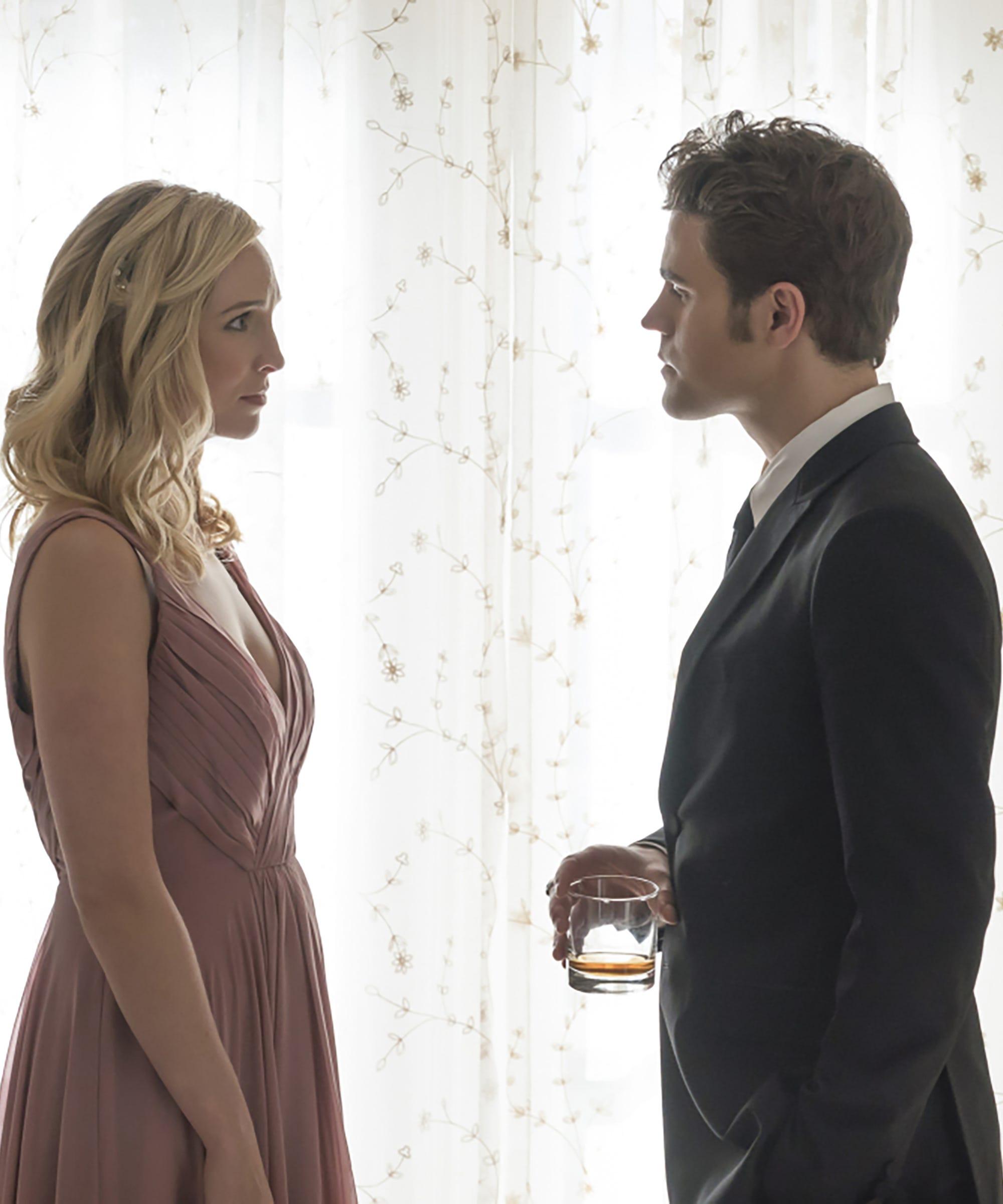 Stefan Caroline Wedding Photos Vampire Diaries Season 8