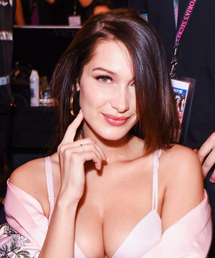 Bella Hadid Makeup Hair Best Looks Victoria Secret