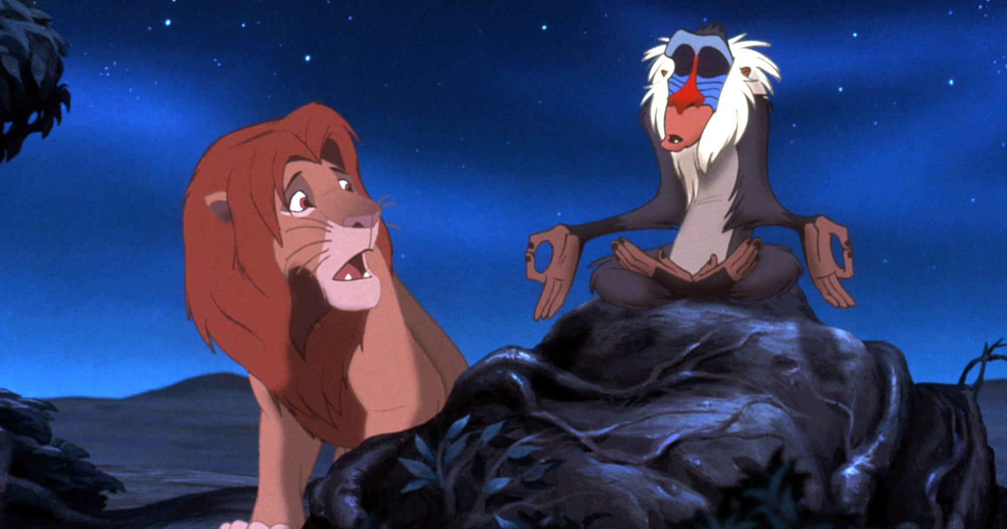 Saddest Disney Movies Ranked - The Lion King Frozen Up