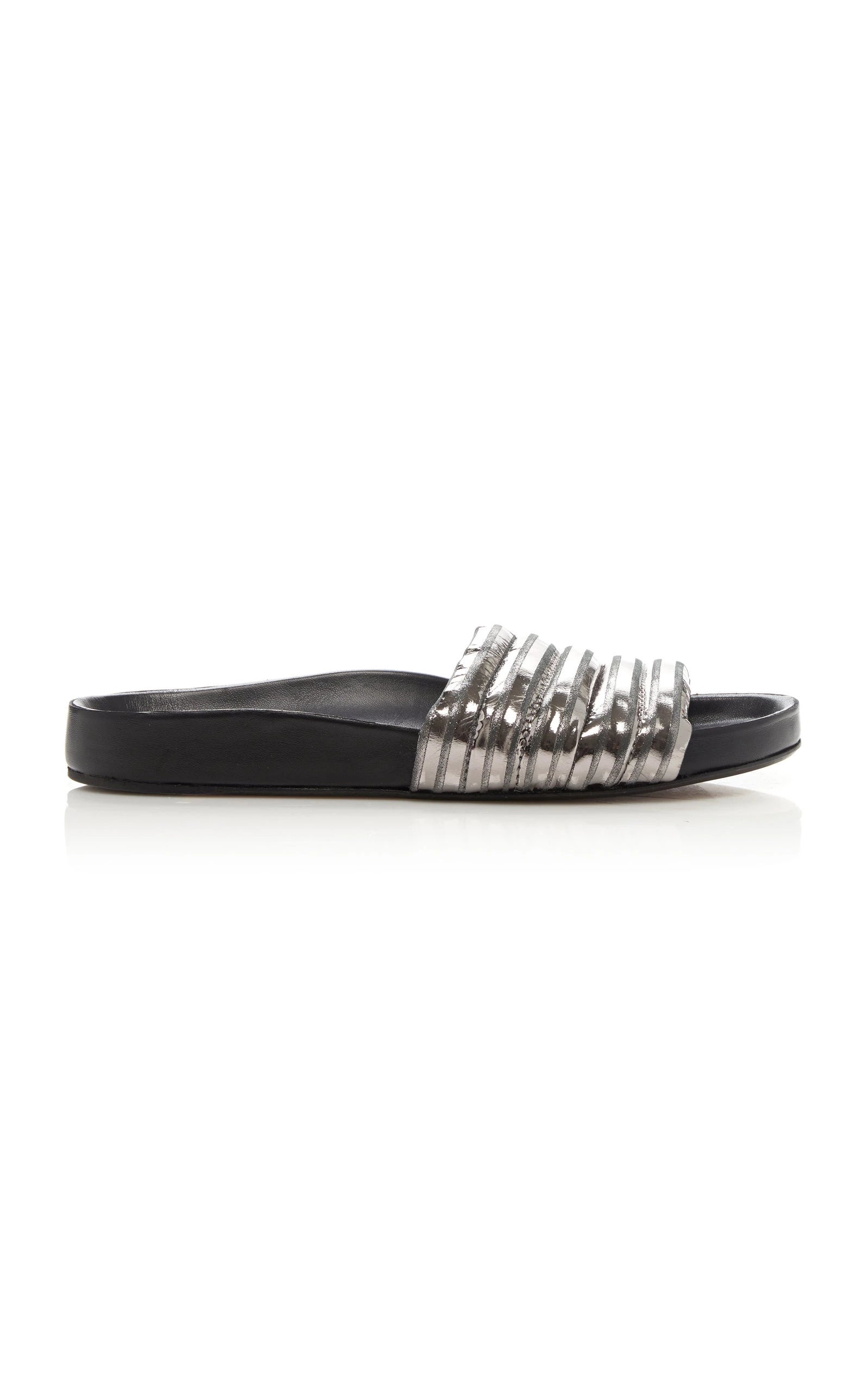 Hellea Leather Metallic Slides Quilted Isabel Marant CgznFF5