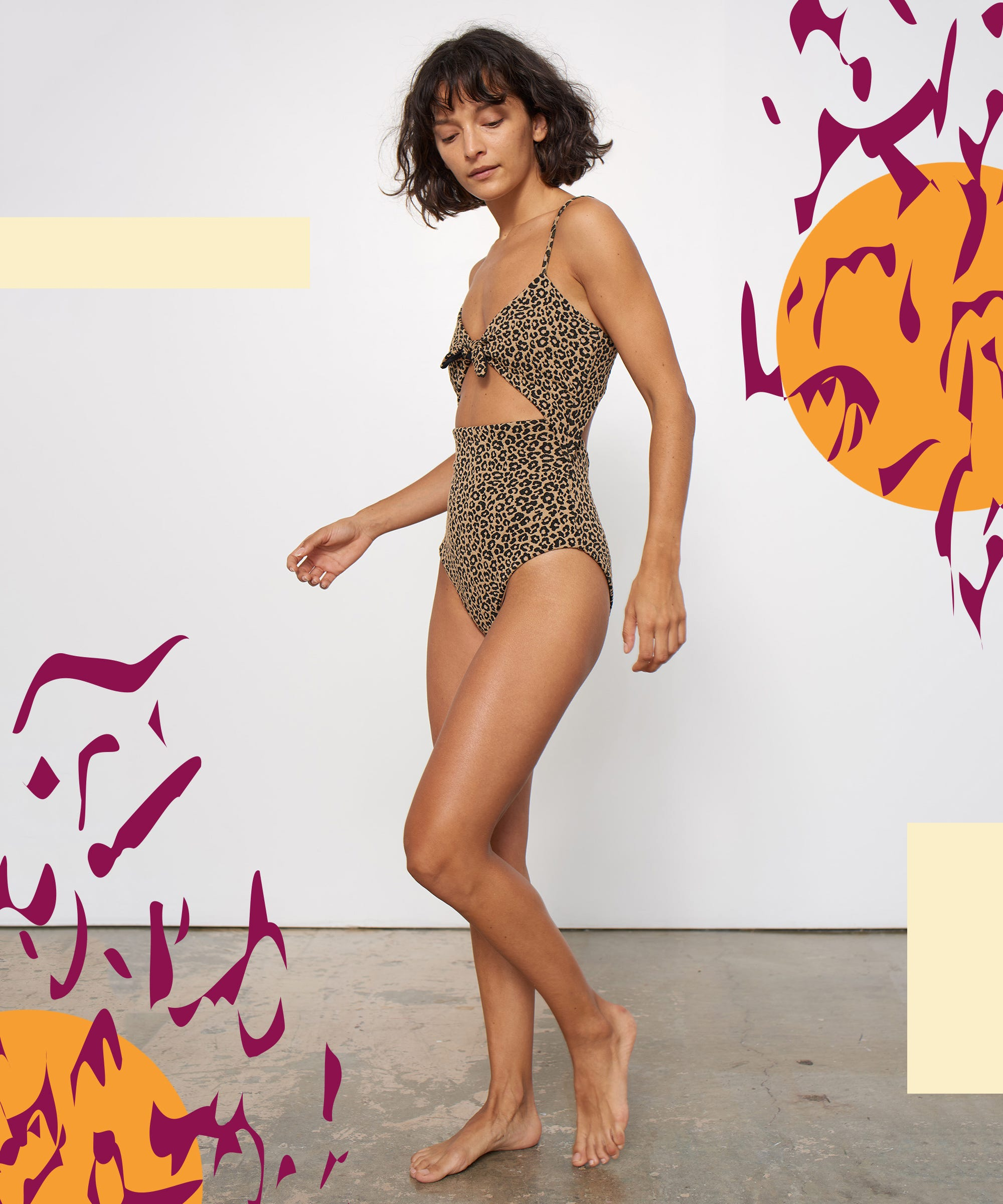 Cut Out One Piece Swimsuits , New Bathing Suit Trends