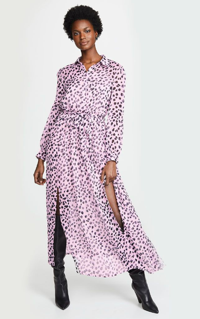 aaedd7072335fc Glamorous + Maxi Shirt Dress In Dalmatian Print