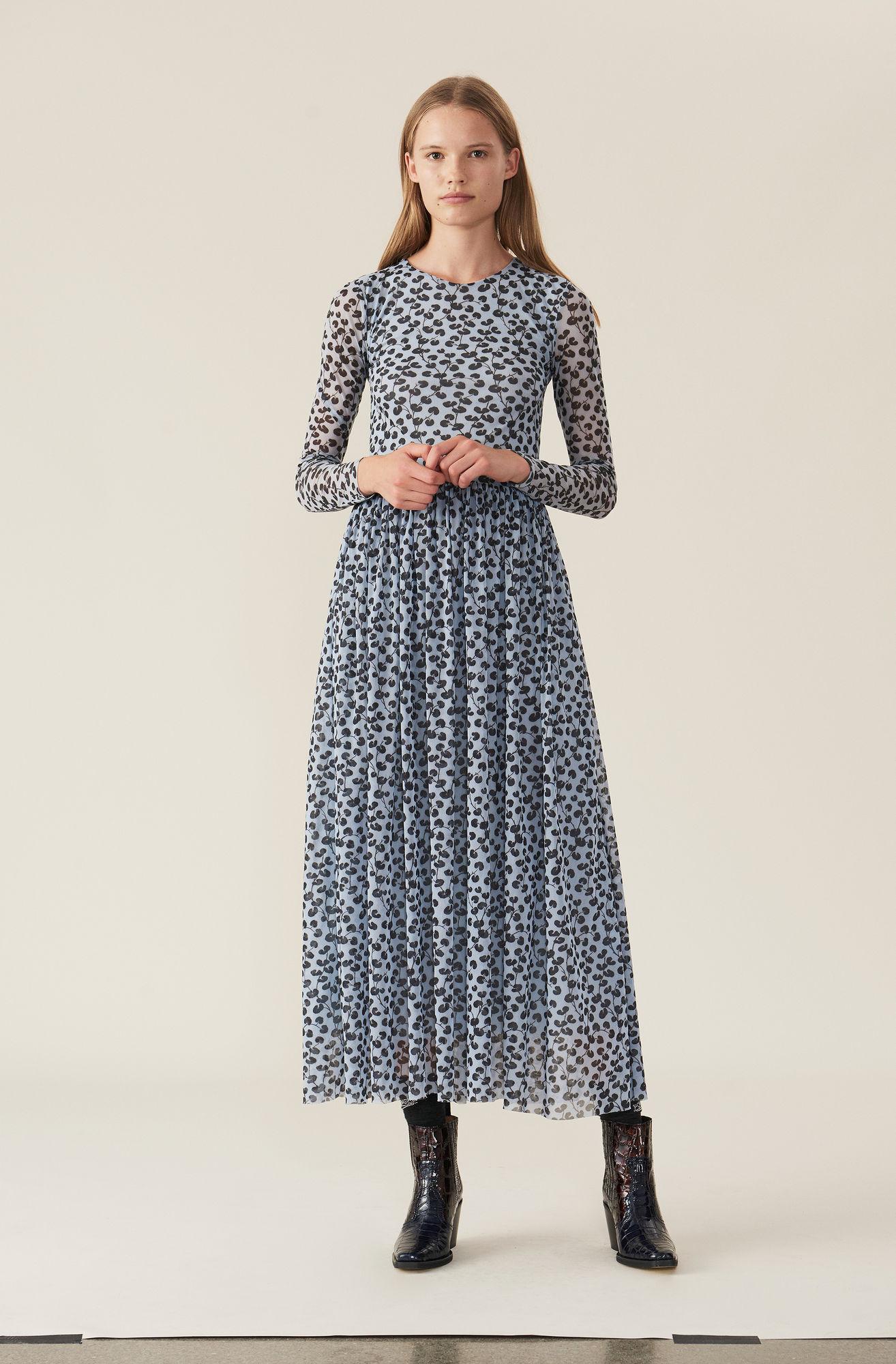 09e94cef79f Ganni + Tilden Mesh Maxi Dress