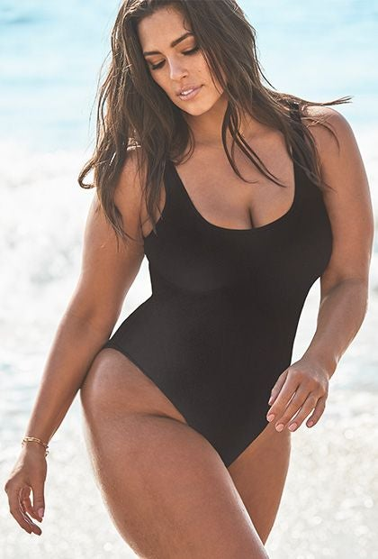 64adf9bd1509c Ashley Graham x Swimsuits For All + Tangier Chocolate Swimsuit