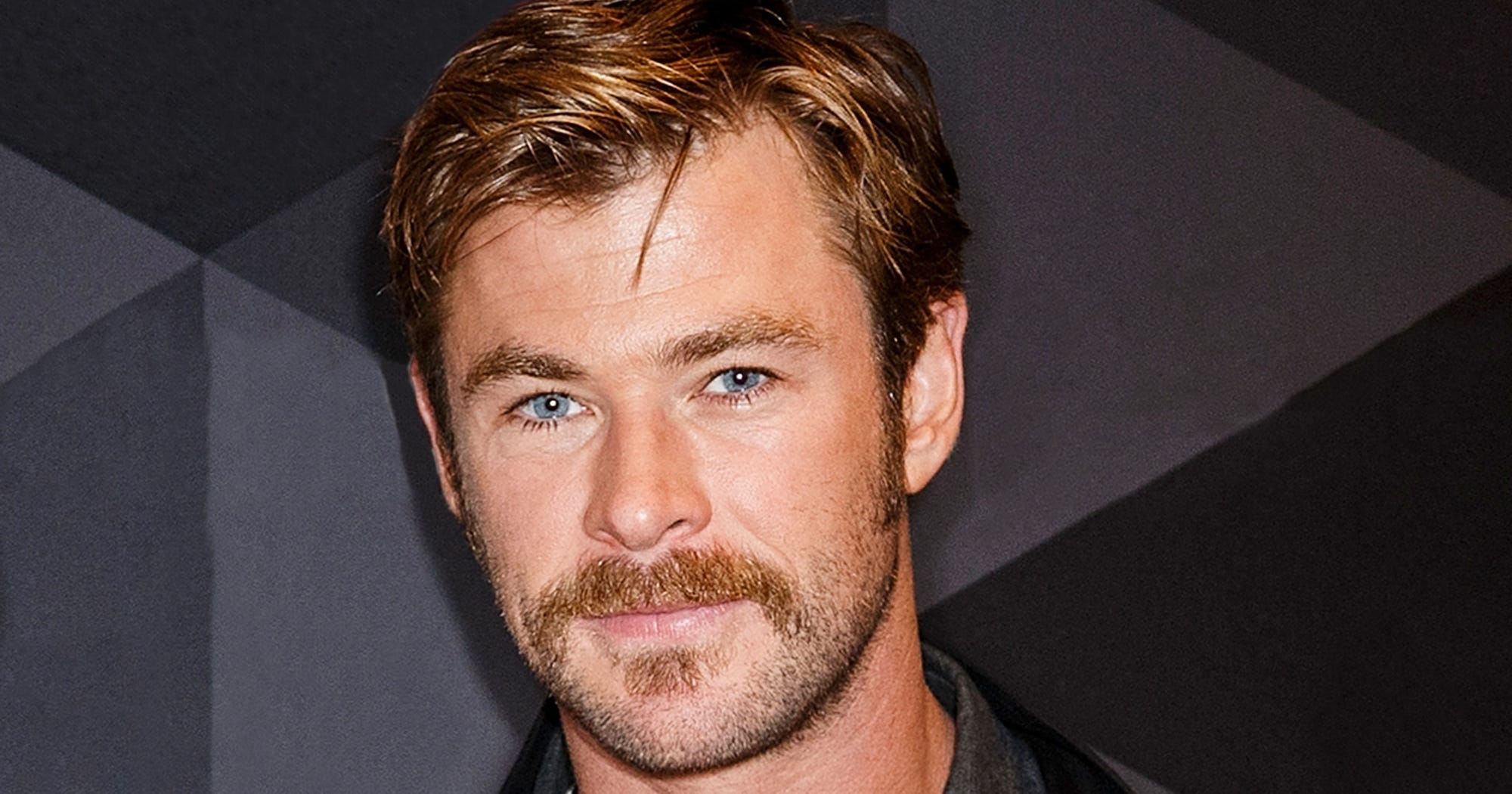 Chris Hemsworth New Hairstyle Mustache Facial Hair