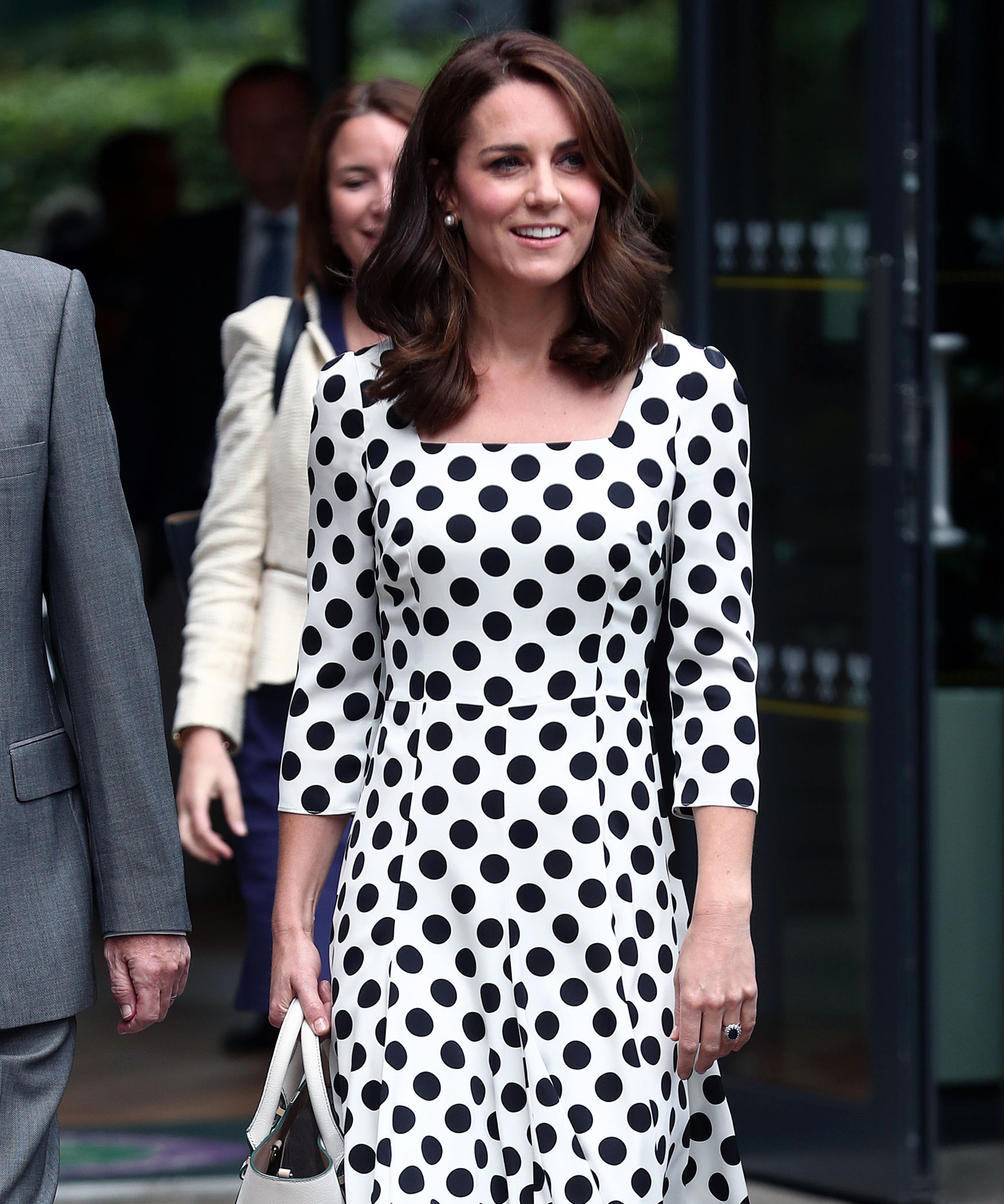 Kate Middleton Wimbledon Short Hair Bob Lob Hairstyle