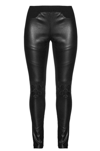 Faux Leather and Lace Leggings