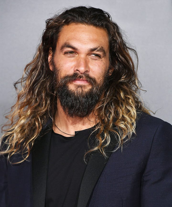 Jason Momoa Ombre Hair Color