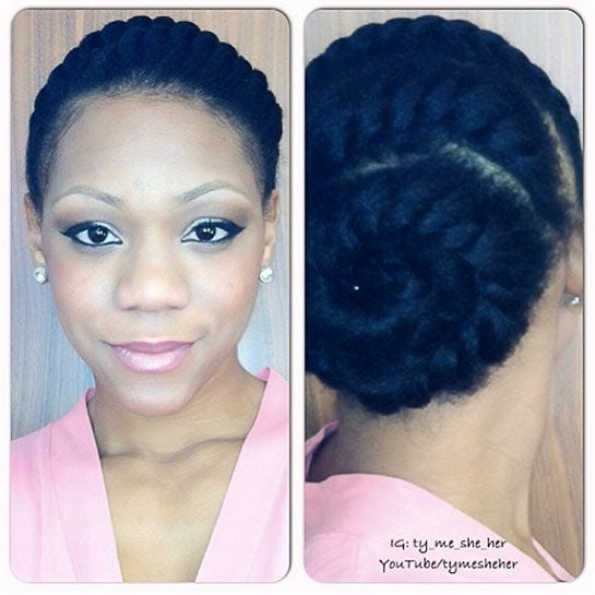 easy protective styles for transitioning hair easy hairstyles for transitioning hair 4310 | image
