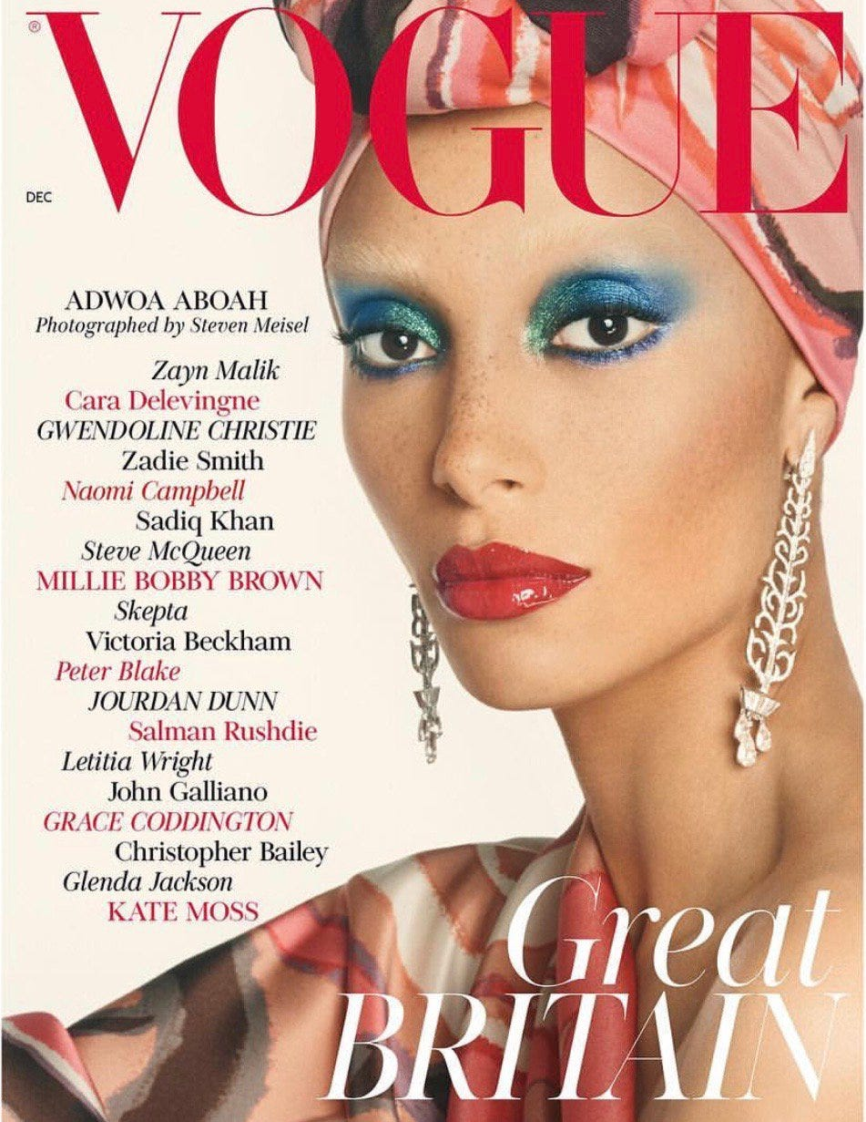 Black Models British Vogue Covers Adwoa Aboah