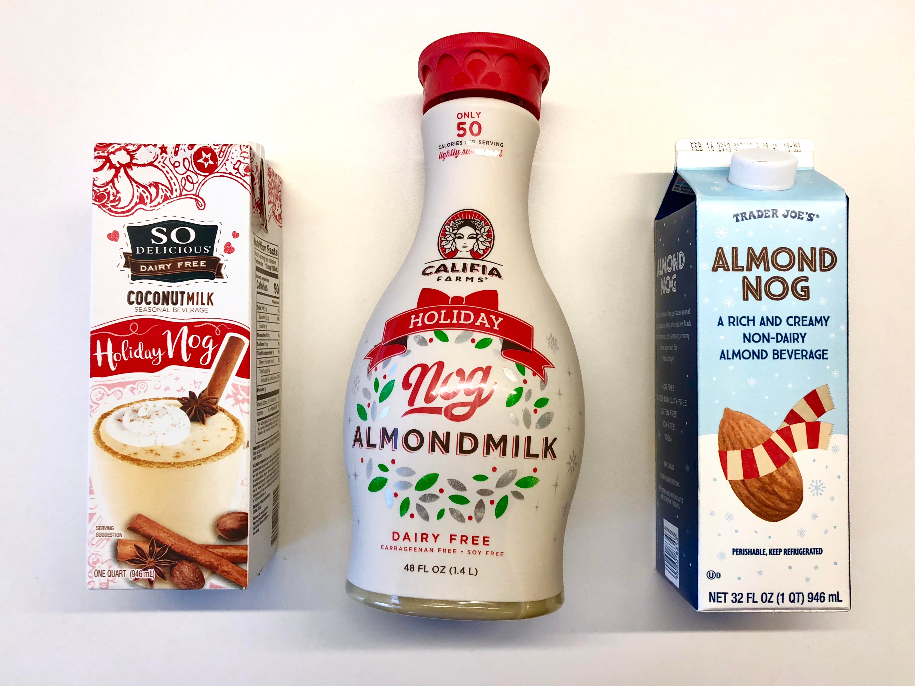 Best Dairy Free Eggnog Taste Test - Trader Joes Califia