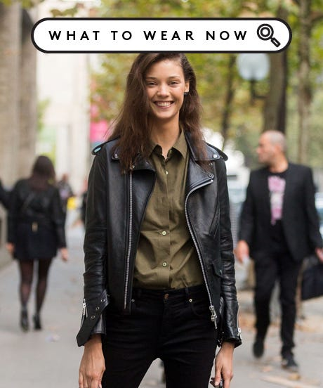 Black Leather Motorcycle Jackets Outfits- How To Wear