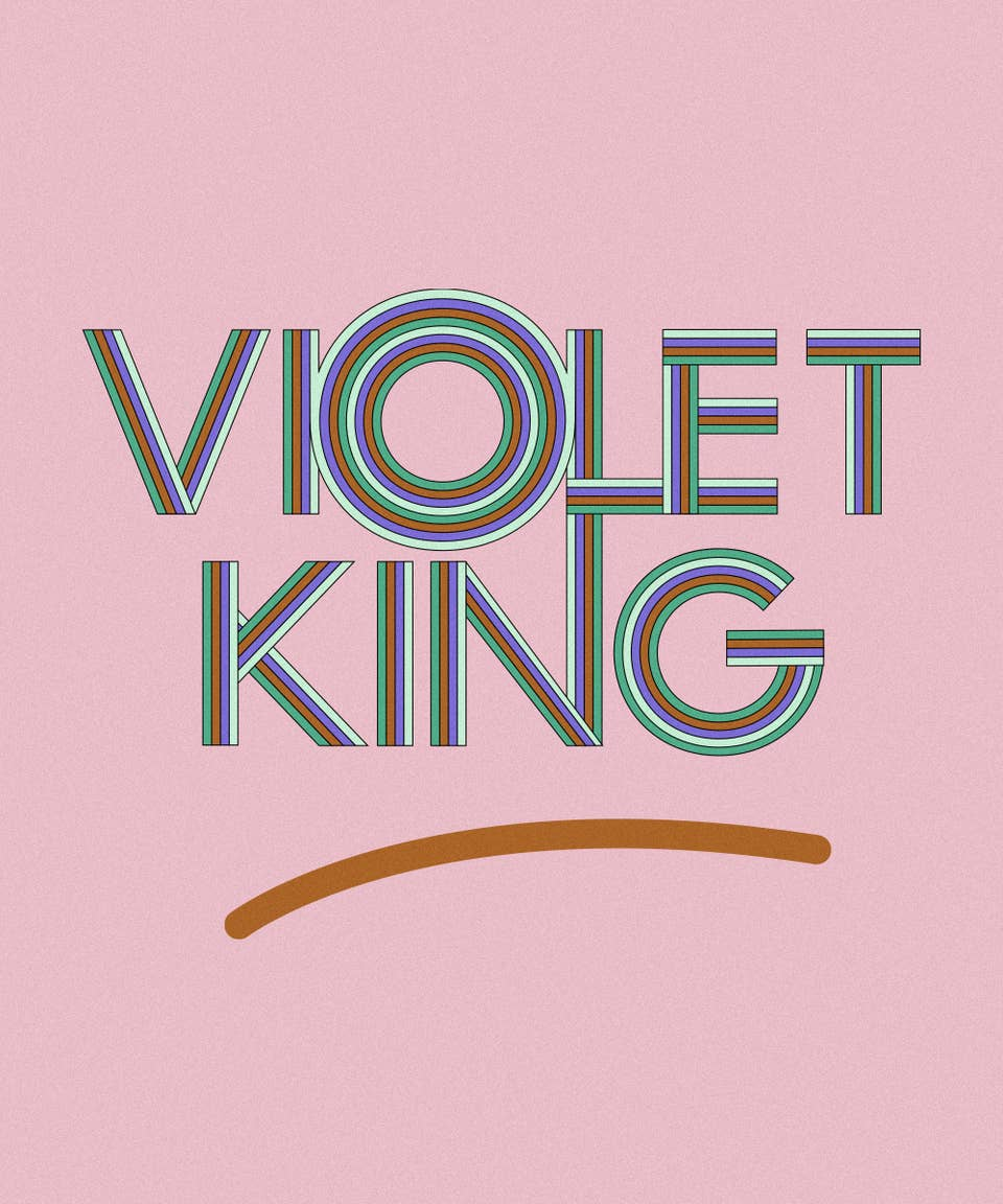Graphic of the name Violet King