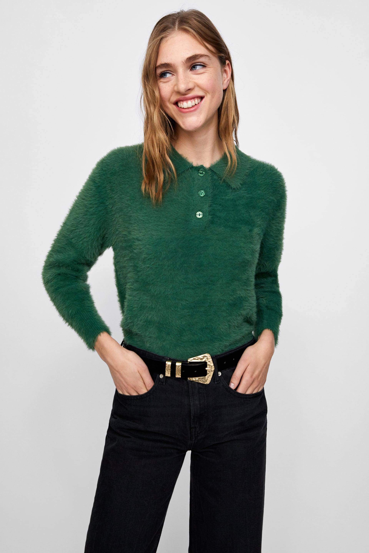 e1b660cb Zara + Textured Polo Sweater