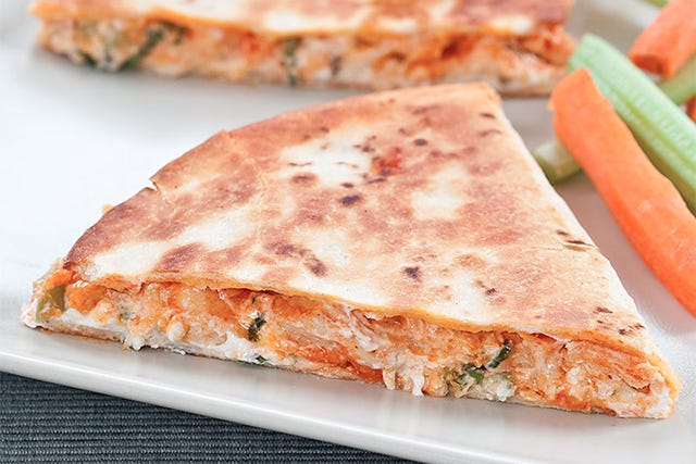 These Buffalo Chicken Quesadillas Are Next-Level Good