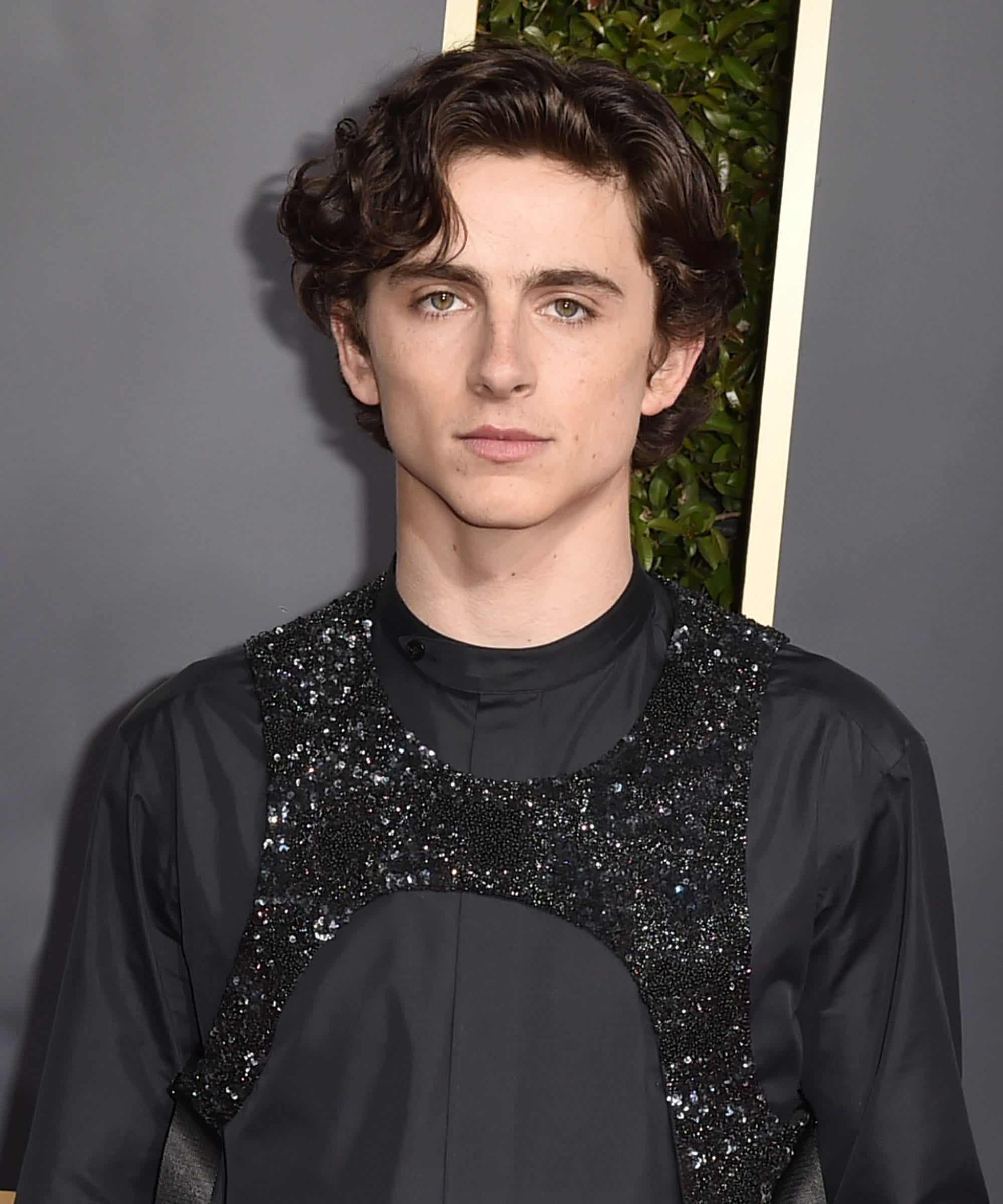 Timothee Chalamet Explains Sequined Harness Outfit