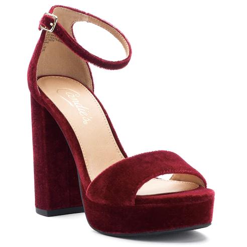 Candie's + Velvet Platform Heels