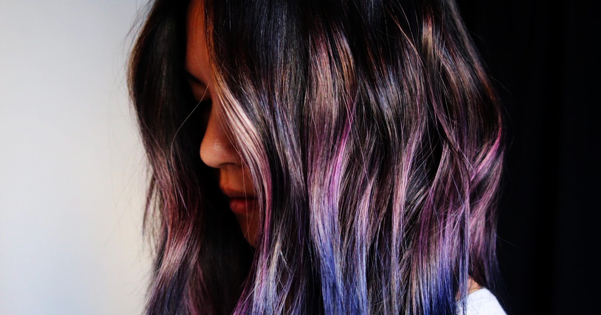 Pink And Purple Hair Styles: Geode Hair Cool Style Purple Pink Blue Colors