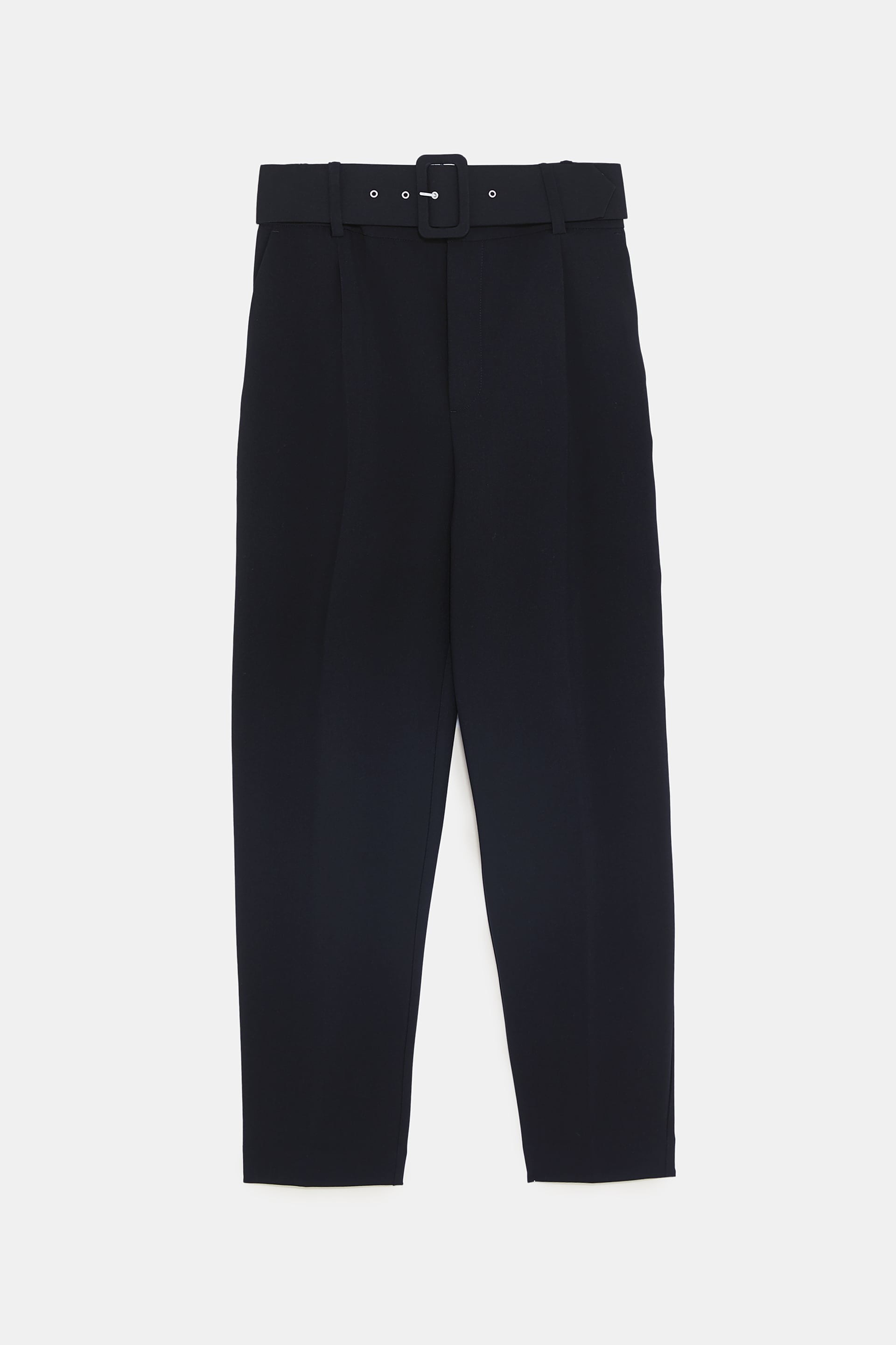 efb179c3 Zara + High-Waisted Belted Pants