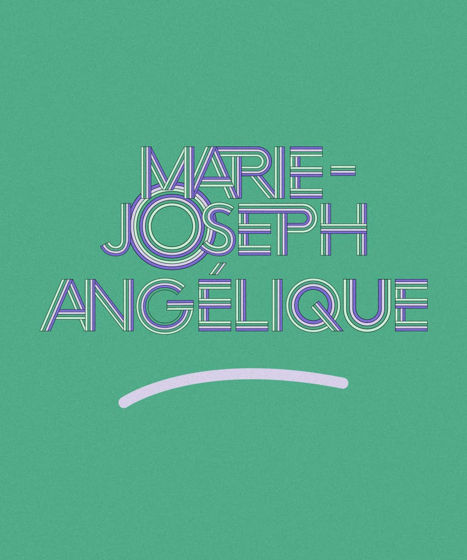 Graphic of the name Marie-Joseph Angélique