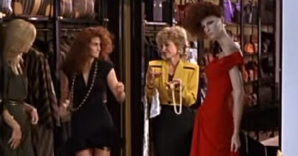 Pretty Woman Shopping Montage Sexist Movie Scenes