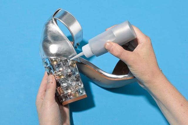 878f5dd5778a Rhinestone Heels DIY- Jeweled Shoes Trend