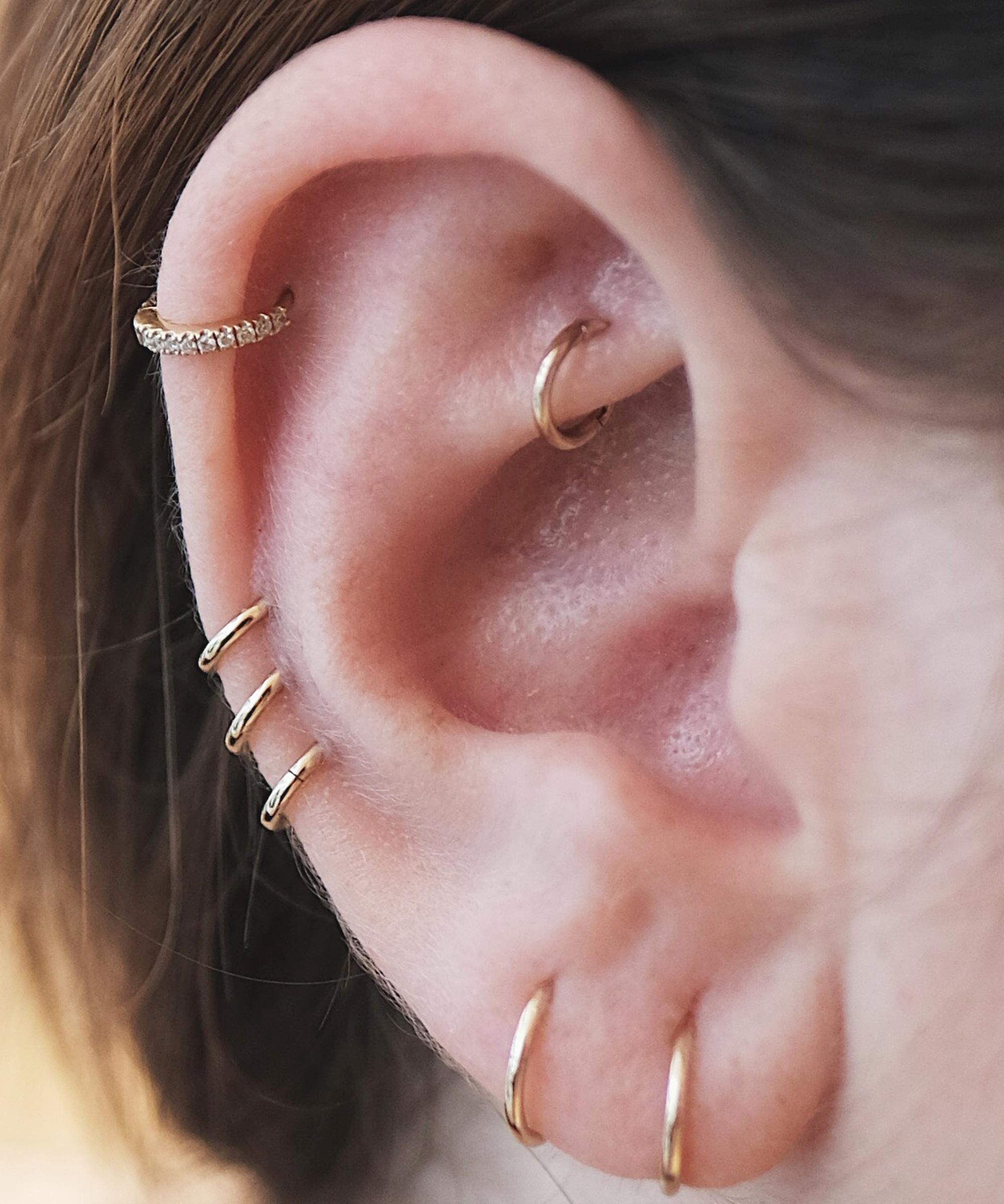 Ear With Earring Ear Crawler Pin Cuff Climber Earring With