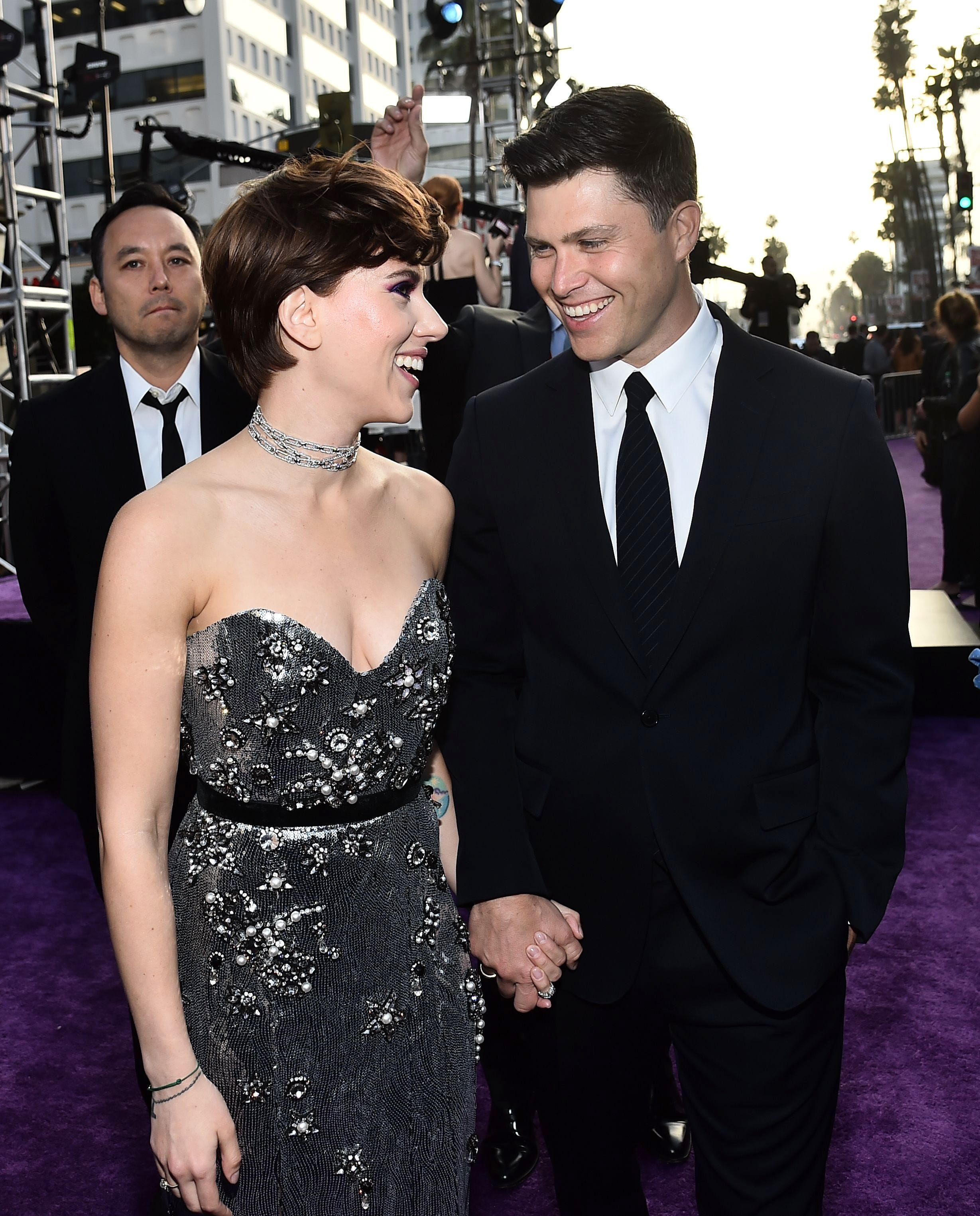 Scarlett Johansson And Colin Now Red Carpet Official