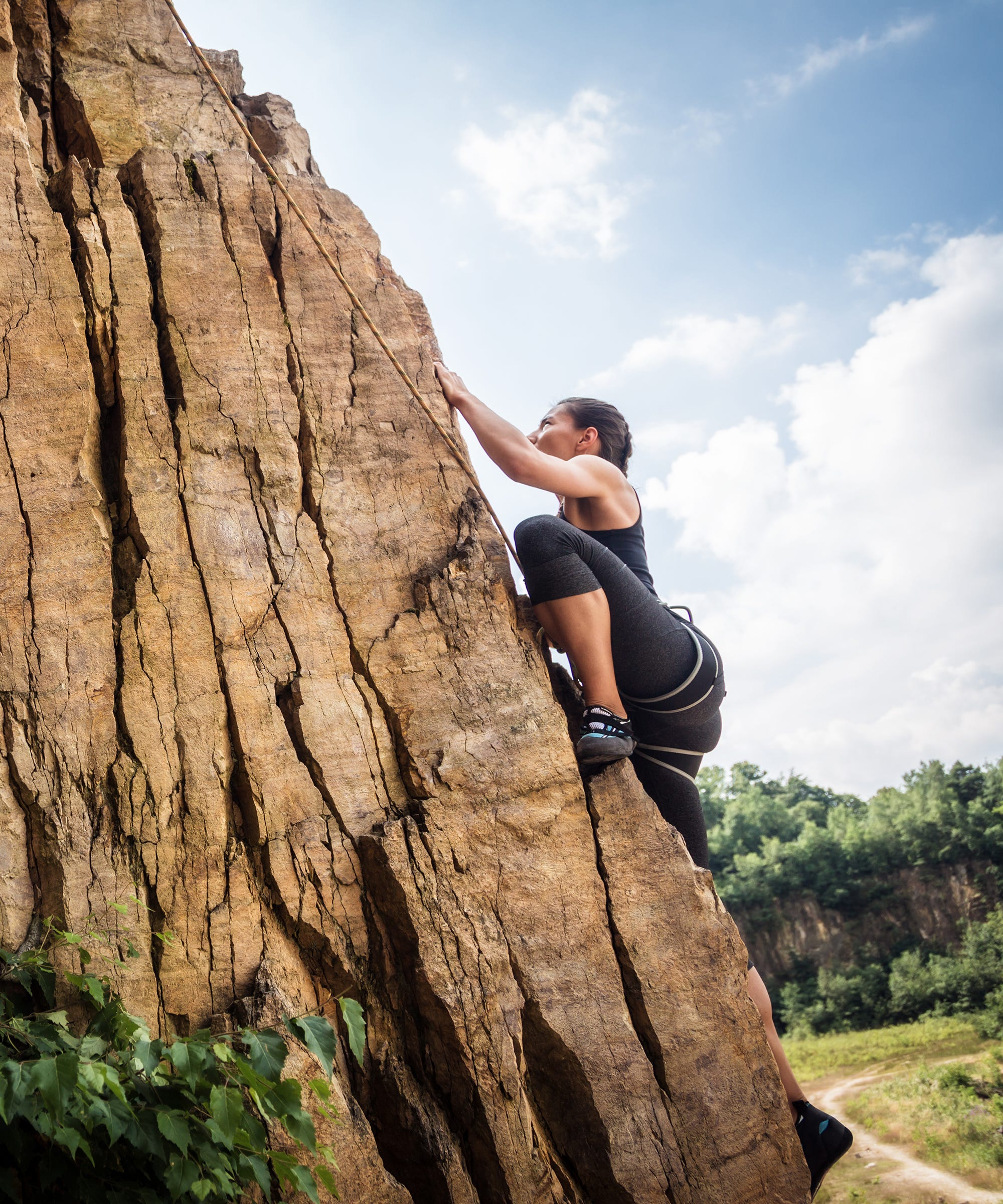 CLIMBING IS AS MUCH A MENTAL ACTIVITY AS A PHYSICAL ONE.