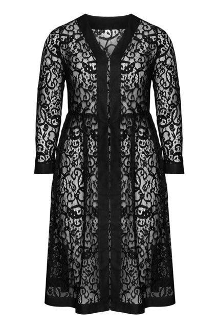 Cotton Linen Lace Coat