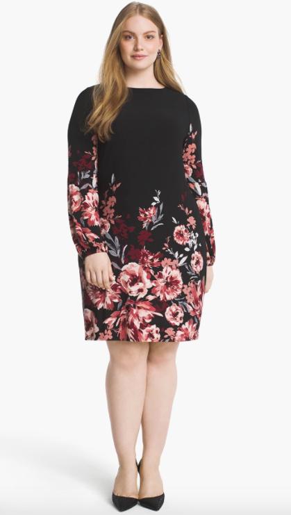 2e27cbb6e11 Floral Knit Shift Dress.  98.00. Buy Now Review It. At White House