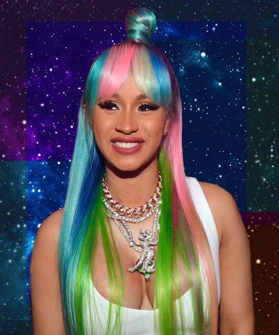 Cardi B Blue Hair: Cardi B Hot Pink Hair, Beauty Makeup Evolution