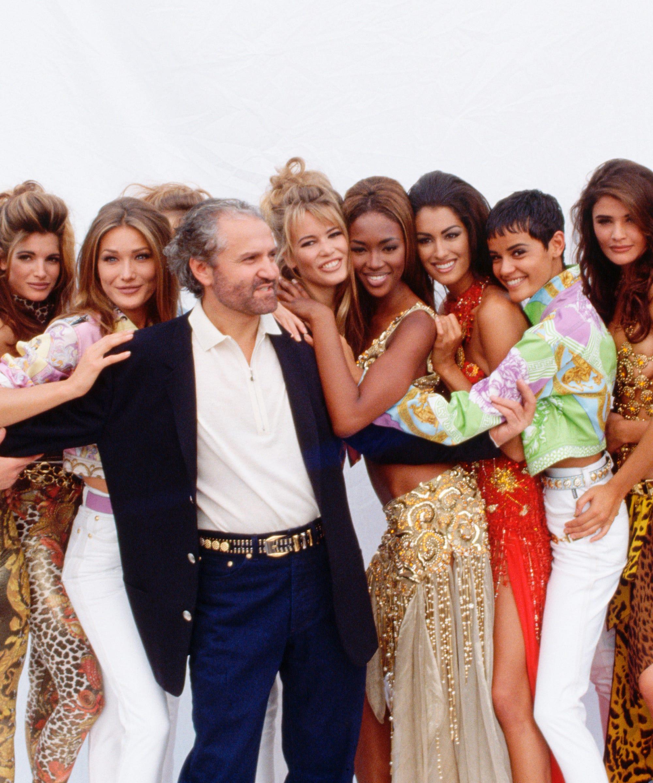 Versace 90s Model Reunion Cindy Crawford Naomi Campbell