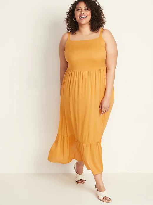 Fit & Flare Tiered Maxi Dress - Sizes 1x - 4x