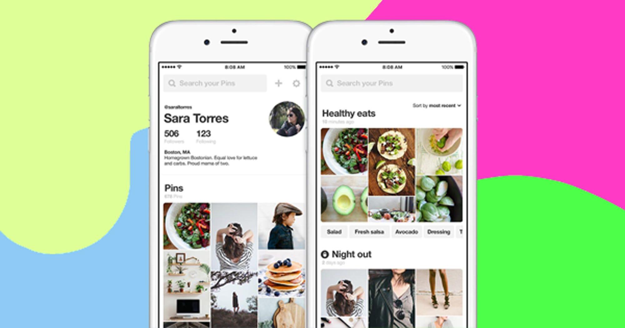 pinterest app profile updates. Black Bedroom Furniture Sets. Home Design Ideas