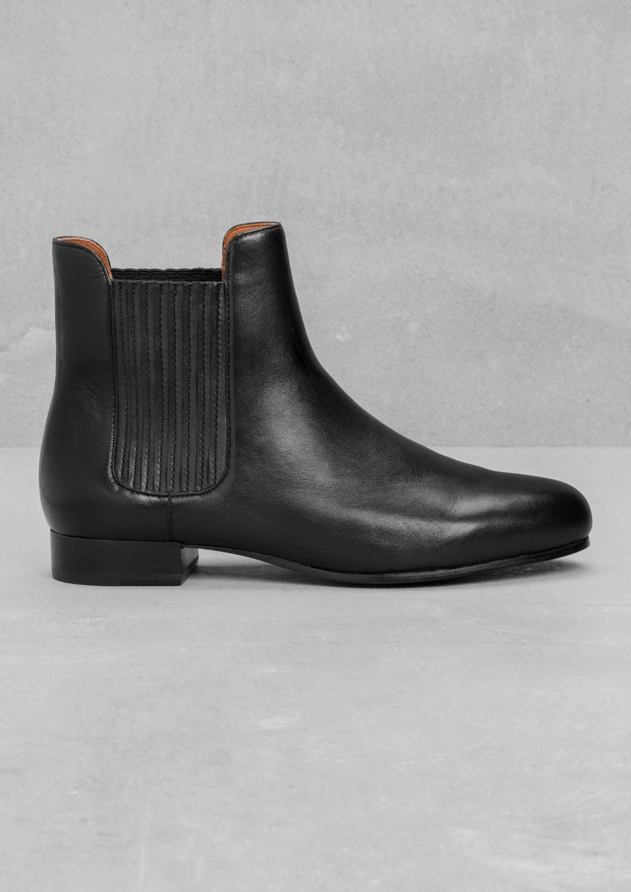 a78c0a70ef5 Stretch Panel Leather Boots