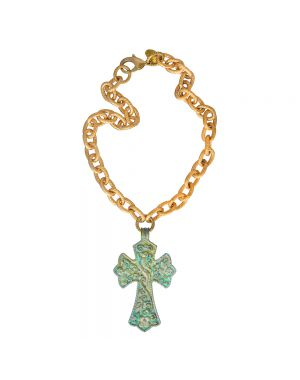 Verdigris Cross Necklace