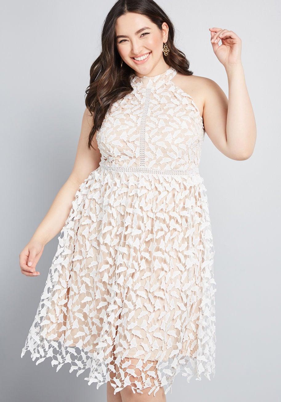 2c1ff3bd4bf ModCloth + Polish Aplenty Fit and Flare Dress