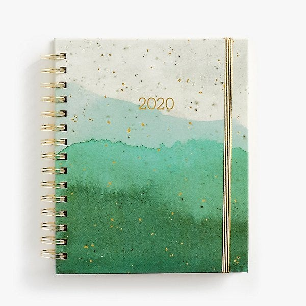 photo relating to Stylish Planners and Organizers referred to as 2019-2020 Emerald Glaze Planner