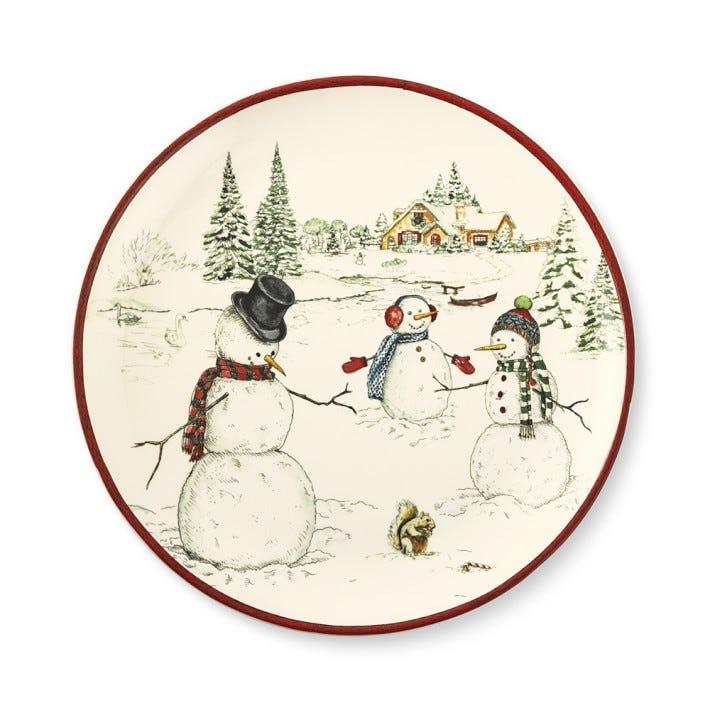 Snowman Dinner Plates