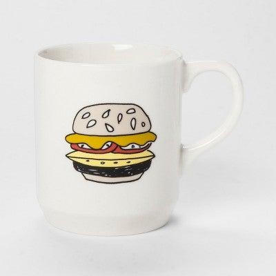 Hamburger Jumbo Mug 26oz White - Room Essentials™